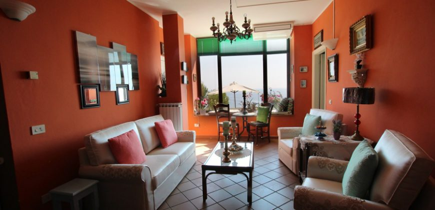 For sale an apartment with a large terrace and a fantastic sea view!