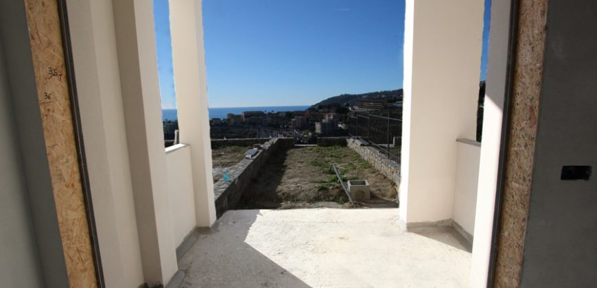 For sale a new apartment on the ground floor with sea view and pool!