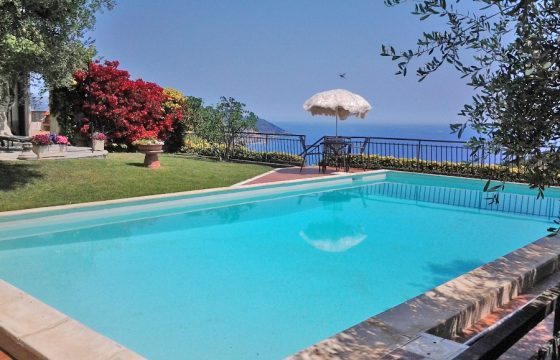 For sale a lovely two family villa with pool and garden