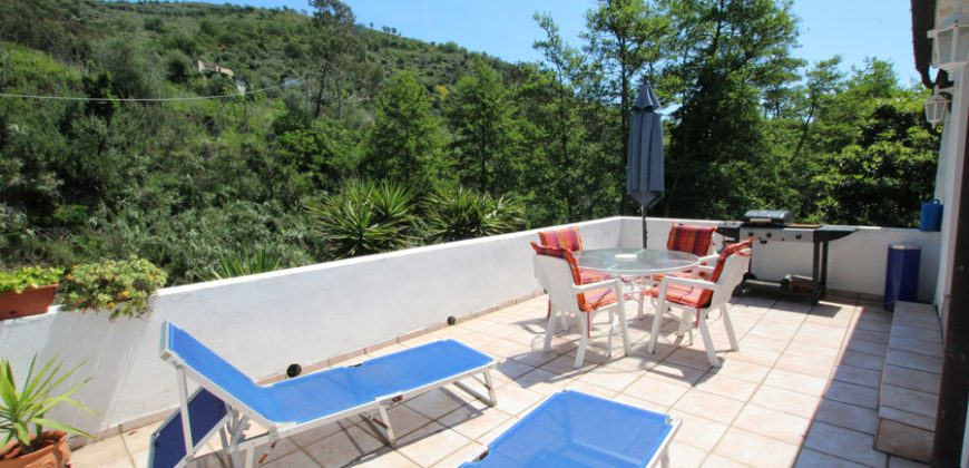 For sale a romantic mill with exotic garden and pool near Torre Paponi